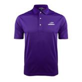 Purple Dry Mesh Polo-Warhawks w/Warhawk Head