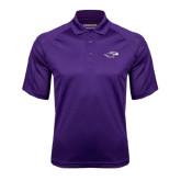 Purple Textured Saddle Shoulder Polo-Warhawk Head
