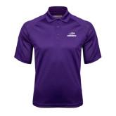 Purple Textured Saddle Shoulder Polo-Warhawks w/Warhawk Head