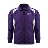 Colorblock Purple/White Wind Jacket-Warhawk Head