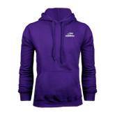 Purple Fleece Hoodie-Warhawks w/Warhawk Head