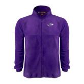 Fleece Full Zip Purple Jacket-Warhawk Head