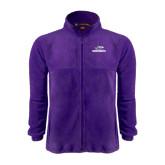 Fleece Full Zip Purple Jacket-Warhawks w/Warhawk Head