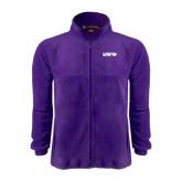 Fleece Full Zip Purple Jacket-UW-W