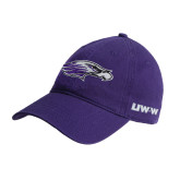 Purple Twill Unstructured Low Profile Hat-Warhawk Head