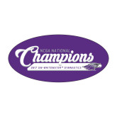 Small Magnet-2017 NCGA National Champions Gymnastics, 6 inches wide