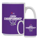 Full Color White Mug 15oz-35th WIAC Championship - Football 2016