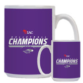 Full Color White Mug 15oz-WIAC Volleyball Champions 2016