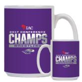 Full Color White Mug 15oz-2017 WIAC Conference Champs Wrestling