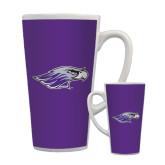 Full Color Latte Mug 17oz-Warhawk Head