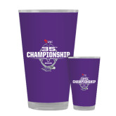Full Color Glass 17oz-35th WIAC Championship - Football 2016