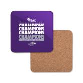 Hardboard Coaster w/Cork Backing-WIAC Softball Champions