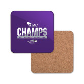 Hardboard Coaster w/Cork Backing-WIAC Baseball Champions