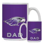 Dad Full Color White Mug 15oz-Warhawk Head