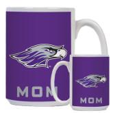 Mom Full Color White Mug 15oz-Warhawk Head