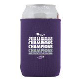 Collapsible Purple Can Holder-WIAC Softball Champions