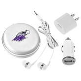 3 in 1 White Audio Travel Kit-Warhawk Head