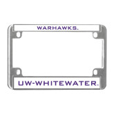 Metal Motorcycle License Plate Frame in Chrome-Warhawks