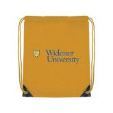 Gold Drawstring Backpack-Primary Mark with Shield
