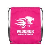 Pink Drawstring Backpack-Widener Athletics