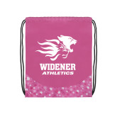 Nylon Pink Bubble Patterned Drawstring Backpack-Widener Athletics