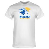 White T Shirt-Widener Athletics