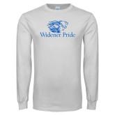 White Long Sleeve T Shirt-Widener Pride
