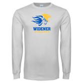 White Long Sleeve T Shirt-Widener Athletics
