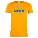 Ladies Gold T Shirt-Cheerleading Design