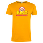 Ladies Gold T Shirt-PMC Stacked