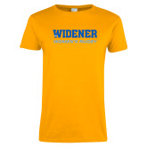 Ladies Gold T Shirt-Womens Rugby