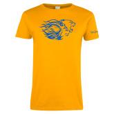 Ladies Gold T Shirt-Widener Pride Mark