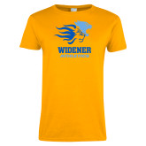Ladies Gold T Shirt-Widener Athletics