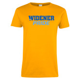 Ladies Gold T Shirt-Widener Pride
