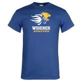 Royal T Shirt-Widener Athletics Distressed