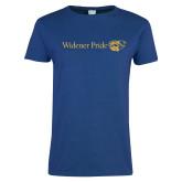 Ladies Royal T Shirt-Widener Pride Flat