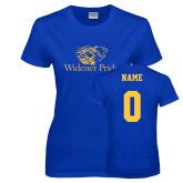 Ladies Royal T Shirt-Widener Pride, Custom Tee w/ Name and #