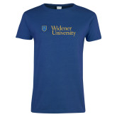 Ladies Royal T-Shirt-Primary Mark with Shield