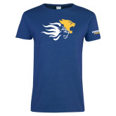Ladies Royal T Shirt-Widener Mascots Mark