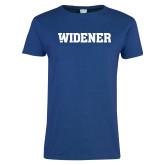 Ladies Royal T Shirt-Widener Wordmark