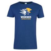 Ladies Royal T Shirt-Widener Athletics Distressed