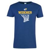 Ladies Royal T Shirt-Basketball Net Design