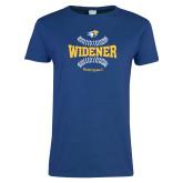 Ladies Royal T Shirt-Softball Design