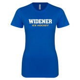 Next Level Ladies SoftStyle Junior Fitted Royal Tee-Ice Hockey