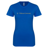 Next Level Ladies SoftStyle Junior Fitted Royal Tee-Primary Mark with Shield Flat