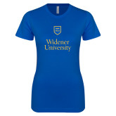 Next Level Ladies SoftStyle Junior Fitted Royal Tee-Stacked University Mark