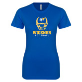 Next Level Ladies SoftStyle Junior Fitted Royal Tee-Football Helmet Design