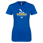 Next Level Ladies SoftStyle Junior Fitted Royal Tee-Cheerleading Design