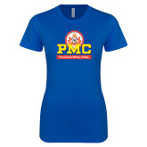 Next Level Ladies SoftStyle Junior Fitted Royal Tee-PMC Stacked
