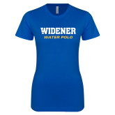 Next Level Ladies SoftStyle Junior Fitted Royal Tee-Water Polo